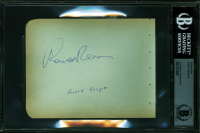 Ronald Reagan Signed 4.5x6 Album Page (BGS Encapsulated) at PristineAuction.com