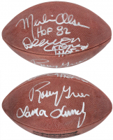 "Rams ""Fearsome Foursome"" Official NFL Game Ball Team-Signed by (4) with Rosey Grier, Lamar Lundy, Merlin Olsen & Deacon Jones Inscribed ""HOF 82"" & ""HOF 80"" (Beckett LOA) at PristineAuction.com"