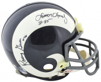 """Fearsome Foursome"" Rams Full Size Authentic On-Field Helmet Signed by (4) with Rosey Grier, Lamar Lundy, Merlin Olsen & Deacon Jones (Beckett LOA) at PristineAuction.com"