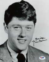 """Bill Clinton Signed 8x10 Photo Inscribed """"Best Wishes"""" (PSA LOA) at PristineAuction.com"""