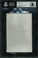 Mick Jagger Signed 4x6 Cut (BGS Encapsulated) at PristineAuction.com