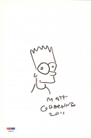 "Matt Groening Signed ""The Simpsons"" Bart 6.75x10.25 Hand-Drawn Sketch Inscribed ""2011"" (PSA COA) at PristineAuction.com"