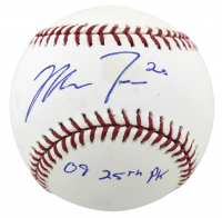 "Mike Trout Signed OML Baseball Inscribed ""09 25th Pick"" (Beckett COA) at PristineAuction.com"