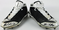 """Jared Allen Signed Pair of Nike Game-Used Football Cleats Inscribed """"Game Used 2015"""" & """"Min Home"""" (PSA COA) at PristineAuction.com"""