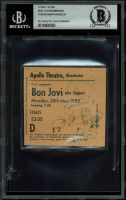 Bon Jovi 1985 Manchester Apollo Theatre Ticket Stub Band-Signed by (5) with John Bon Jovi, Richie Sambora, Tico Torres, David Bryan, & Alec John Such (BGS Encapsulated) at PristineAuction.com