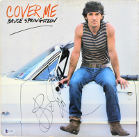 """Bruce Springsteen Signed """"Cover Me"""" Vinyl Record Album Cover (Beckett LOA) at PristineAuction.com"""