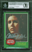 Carrie Fisher Signed 1977 Star Wars #226 Portrait of A Princess (BGS Encapsulated & Beckett LOA) at PristineAuction.com