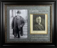 """Charles Schwab Signed 26.5x31.5 Custom Framed Photo Display Inscribed """"With Sincere Regards"""" (Beckett LOA) at PristineAuction.com"""