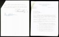 """Dan Blocker Signed 1959 """"Bonanza"""" TV Contract (PSA COA) at PristineAuction.com"""