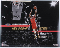 Zion Williamson Signed LE Official NBA Game-Ball with Custom Curve Display (Fanatics Hologram) at PristineAuction.com