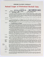 Don Larsen Signed 1964 Giants Player's Contract (Beckett COA) at PristineAuction.com