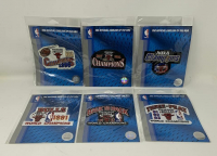 Set of (6) Michael Jordan Bull Patches for All Six Championships at PristineAuction.com