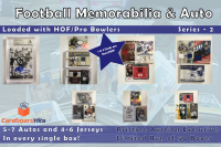 Cardboard Hits Football Memorabilia and Auto Mystery Box (11 Auto or Relic Cards per Box) at PristineAuction.com