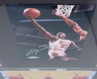 Michael Jordan Signed Bulls 21x25 Custom Framed LE Photo Display (UDA COA) at PristineAuction.com