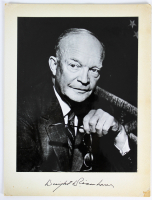 Dwight D. Eisenhower 8.75x11.5 Custom Matted Photo Display (Beckett LOA) at PristineAuction.com
