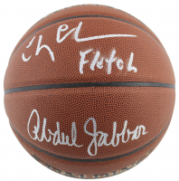 "Kareem Abdul-Jabbar & Chevy Chase Signed NBA Basketball Inscribed ""Fletch"" (Beckett COA & PSA COA) at PristineAuction.com"