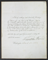 Franklin Pierce Signed 1854 8.25x10.5 Letter (Beckett COA) at PristineAuction.com
