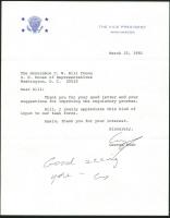 George H. W. Bush Signed 1981 Letter (PSA LOA) at PristineAuction.com