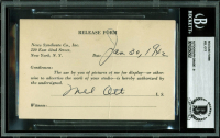 Mel Ott Signed Photo Release Form (BAS Encapsulated) at PristineAuction.com