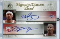 LeBron James & Michael Jordan 2005-06 SP Authentic Sign of the Times Dual #JJ at PristineAuction.com