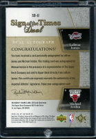 LeBron James & Michael Jordan 2005-06 SP Authentic Sign of the Times Dual #JJ at PristineAuction.com