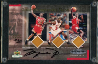 Michael Jordan Signed Bulls LE 2000 Upper Deck 3x5 Game Championship Floor Card (UDA Hologram) at PristineAuction.com