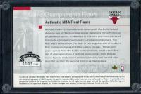 Michael Jordan Signed Bulls LE 2000 Upper Deck 3x5 Game Championship Floor Card (UDA Hologram) at PristineAuction.com