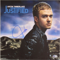 """Justin Timberlake Signed """"Justified"""" Vinyl Record Album Cover (Beckett COA) at PristineAuction.com"""