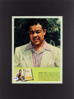 Joe Louis Signed 12x16 Custom Matted Magazine Page Display (PSA COA) at PristineAuction.com