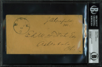 James A. Garfield Signed Free Frank 3.5x7 Envelope With Multiple Inscriptions (BGS Encapsulated) at PristineAuction.com