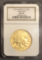 2006 $50 Buffalo Gold Coin (NGC MS 70) at PristineAuction.com