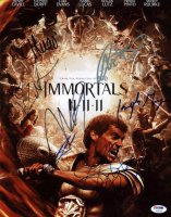 Immortals 11x14 Photo Cast-Signed by (7) with Isabel Lucas, Joseph Morgan, Luke Evans, Henry Cavill (PSA LOA) at PristineAuction.com