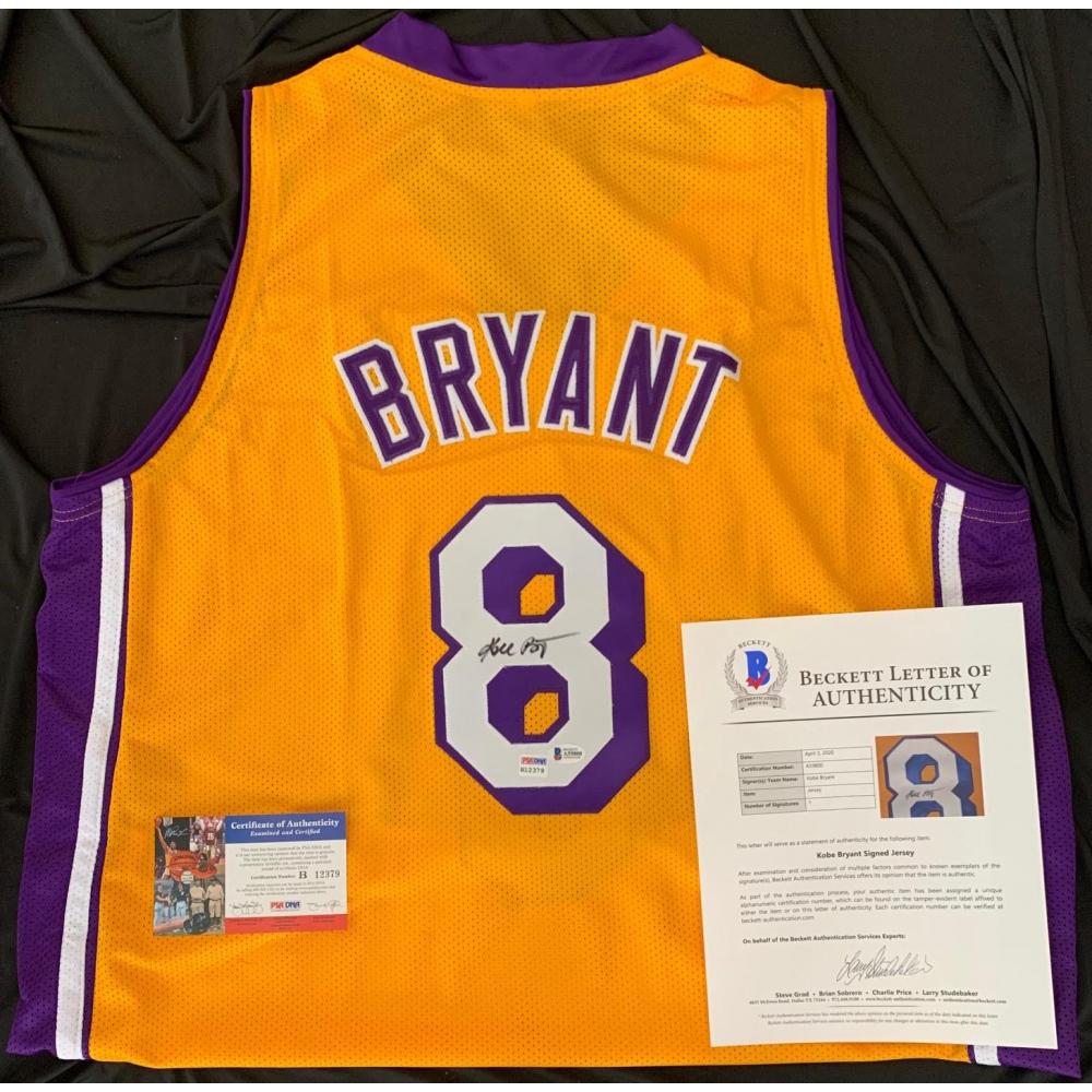 Kobe Bryant Signed Jersey (PSA COA & Beckett LOA) | Pristine Auction