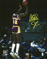 Magic Johnson Signed Lakers 8x10 Photo (Beckett COA) at PristineAuction.com