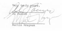 """Al Pacino & Martin Bregman Signed """"Serpico"""" Contract Amendment (PSA LOA) at PristineAuction.com"""