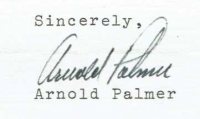 Arnold Palmer Signed 1982 Letter to Fan (PSA COA) at PristineAuction.com