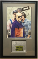 R.E.M. 16.5x25.5 Custom Framed Photo Display Signed by Michael Stype, Mike Mills, Peter Buck & Bill Berry (JSA COA) at PristineAuction.com