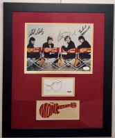 The Monkees 16.5x20.5 Custom Framed Photo & Cut Display Signed by Davy Jones, Michael Nesmith, Micky Dolenz & Peter Tork (JSA COA & PSA COA) at PristineAuction.com