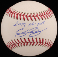 "Cody Bellinger Signed OML Baseball Inscribed ""2019 NL MVP"" (MLB Hologram & Fanatics Hologram) at PristineAuction.com"