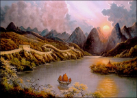 """Jesse Barnes Signed """"Beyond the Wall"""" 24x36 Limited Edition Giclee on Canvas (Barnes COA) at PristineAuction.com"""