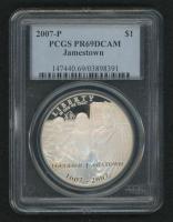 2007-P Jamestown Silver Dollar (PCGS PR69 DCAM) at PristineAuction.com