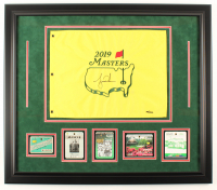 Tiger Woods Signed LE The Masters 27.5x31.5 Custom Framed Pin Flag Display (JSA ALOA) at PristineAuction.com