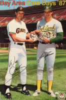 Will Clark & Jose Canseco Signed 18x27 Poster (JSA COA) at PristineAuction.com