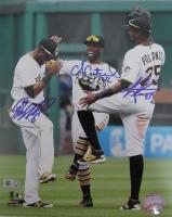 Andrew McCutchen, Gregory Polanco & Starling Marte Signed Pirates 8x10 Photo (MLB Hologram) at PristineAuction.com