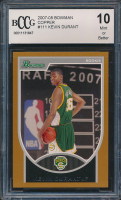 Kevin Durant 2007-08 Bowman Copper #111 (BCCG 10) at PristineAuction.com