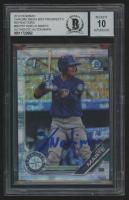 Noelvi Marte Signed 2019 Bowman Chrome Mega Box Prospects Refractors #BCP97 Baseball Card (BGS Encapsulated) at PristineAuction.com