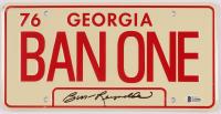 "Burt Reynolds Signed ""Smokey & The Bandit"" 6x12 License Plate (Beckett Hologram) at PristineAuction.com"