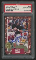 Brett Favre 1991 Star Pics Autographs #65 (PSA 10) at PristineAuction.com