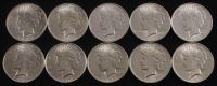 Lot of (10) 1922-1924 Peace Silver Dollars at PristineAuction.com