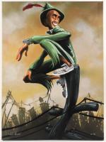 "David Garibaldi Signed ""Peter Pan"" 26.5x36 Canvas Painting (PA LOA) at PristineAuction.com"